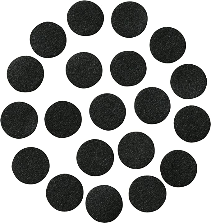 25 Grey 3//4 Circle Felt Self Adhesive Sticky-back Craft Felt Pads Shabby Flowers