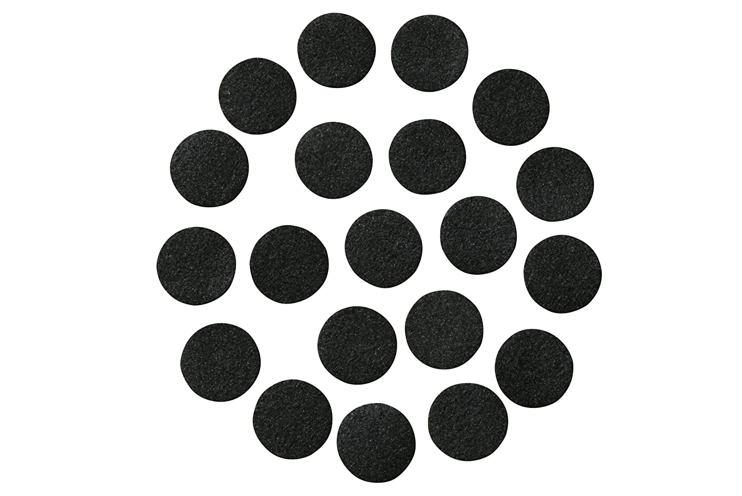 Black Adhesive Felt Circles; 1 Wide or 1.5 Wide; Various Package Sizes; Wholesale, Die Cut; DIY Projects (48 Count 1, Black) 4336935033