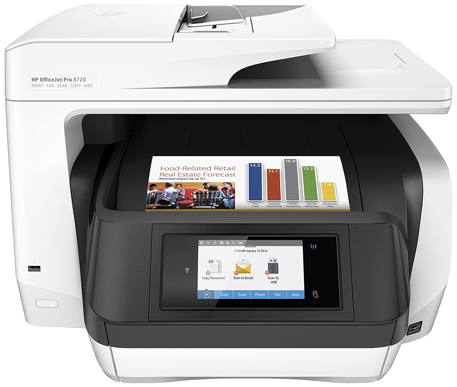 HP OfficeJet Pro 8710, Stampante Multifunzione All-in-One, Ink D9L18A#A80