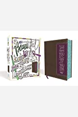 NIV, Beautiful Word Coloring Bible and 8-Pencil Gift Set, Leathersoft, Brown/Purple: Hundreds of Verses to Color Imitation Leather