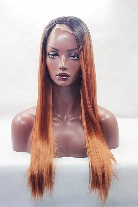 Party Queen ombre Synathetic parrucche per nero donne lungo marrone scuro parrucca  resistente al calore parrucche a8e095e24976