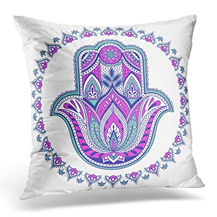 Amazon Golee Throw Pillow Cover Graphic Indian Hamsa Hand