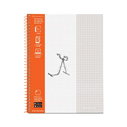 amazon com whitelines notebook grey lined graph paper 8 5 x11