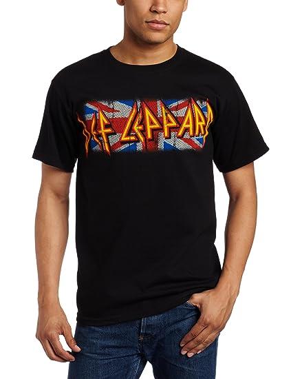 ad090cfeb1c Amazon.com  FEA Merchandising Men s Def Leppard Union Logo T-Shirt ...