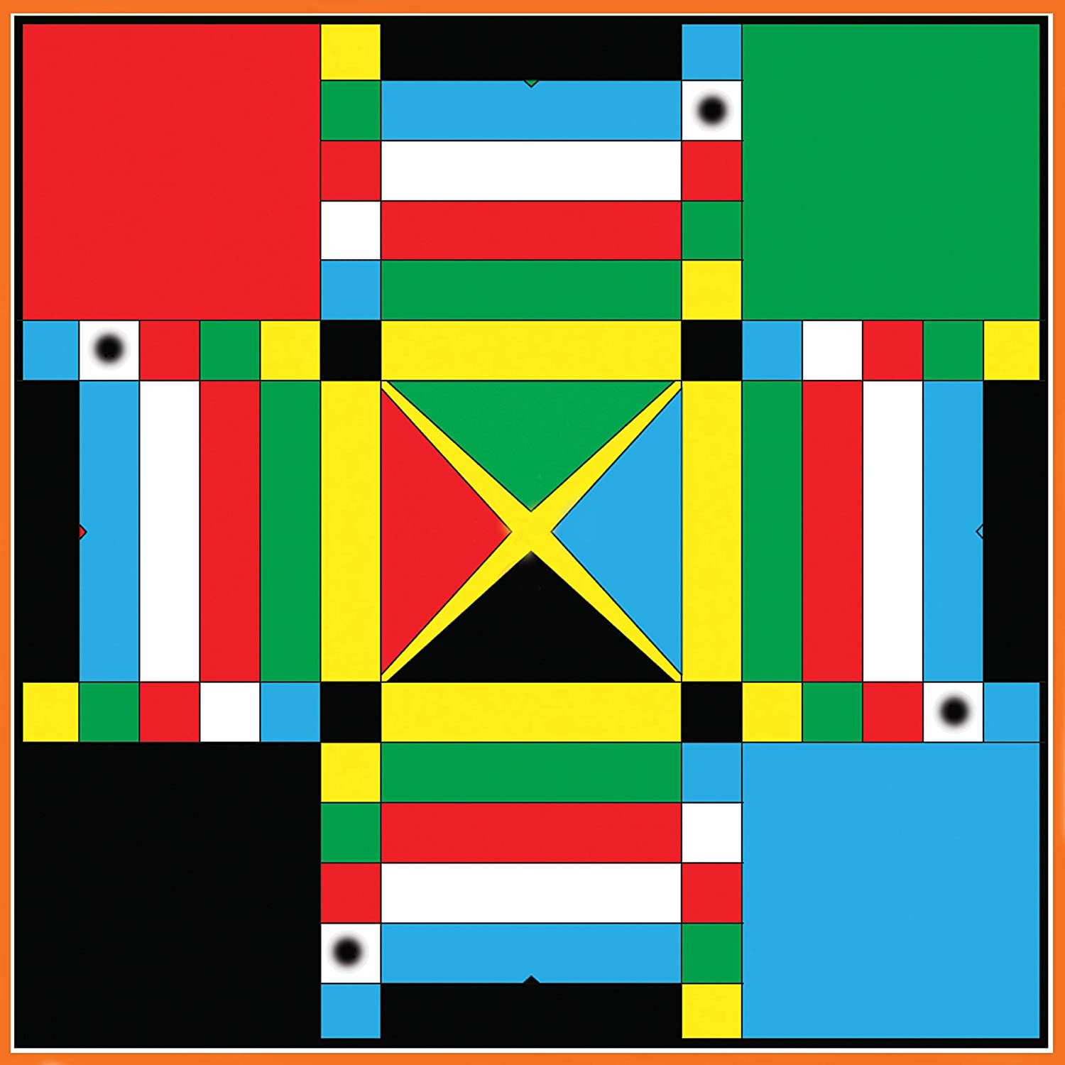 Family Game Night Activity Jamaican Ludo Original Edition | 24in x 24in Board Game Fun Easy Multi-Player Entertainment Ludi//Ludy