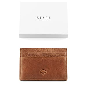 Porte-cartes en cuir véritable
