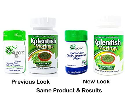 Amazon.com: Alipotec Root Raiz de Tejocote 90 Day Supply and 30 Day KPlentish Moringa Potassium Supplement 2 Product Pack: Health & Personal Care