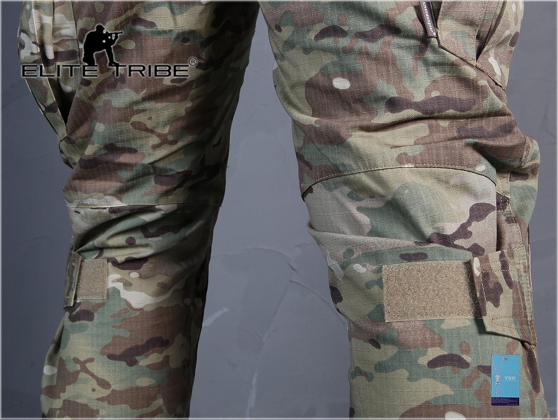 Elite Tribe Airsoft Chasse Pantalon de Combat Tactique Gen2 Pantalon avec genouill/ères