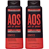 Art of Sport Activated Charcoal Body Wash for Men (2-Pack) - Compete Scent - Energizing Citrus Fragrance - Natural Botanicals