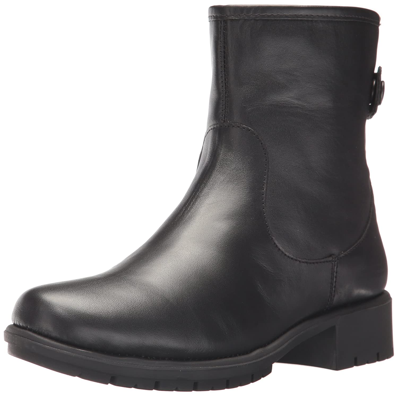 Aerosoles Women's Just Kidding Ankle Boot Black Leather
