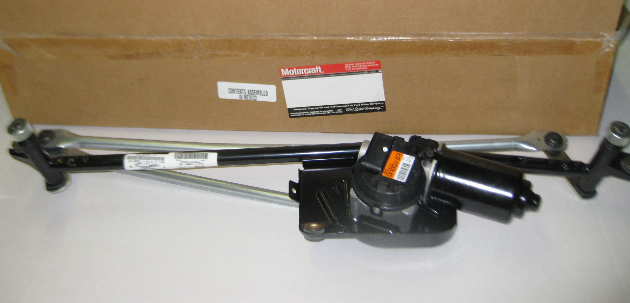New Motocraft Original Front Windshield Wiper Motor W Linkage Assembly WM599 by MOTOCRAFT IN ORIGINAL BOX