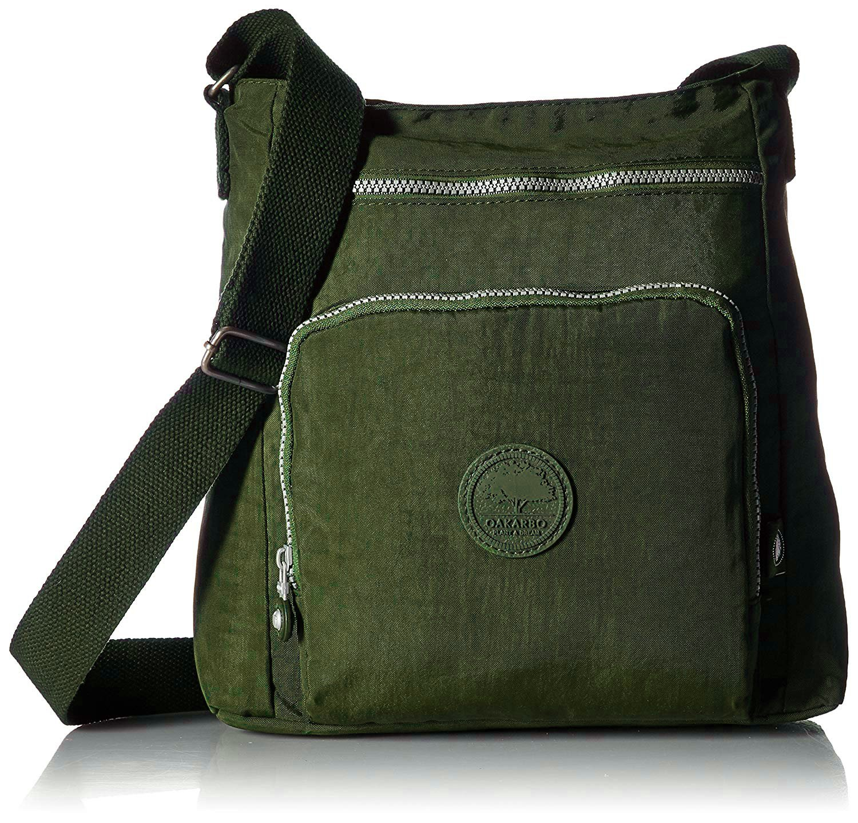 Oakarbo Nylon Crossbody Purse Multi-Pocket Travel Shoulder Bag (1301 Army green)