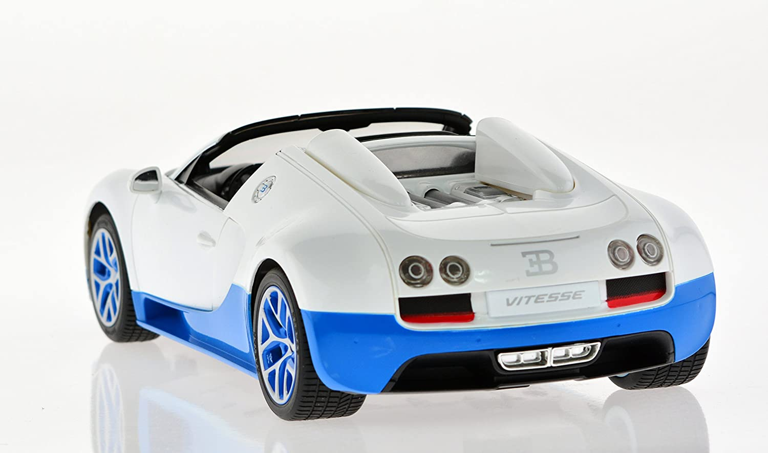Carmel 1:14 Bugatti Grand Sport Vitesse USB Charger 2.4Ghz with Lights Rechargeable Battery Black