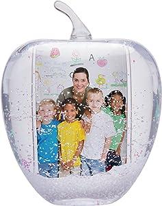 Neil Enterprises, Inc Apple Photo Snow Globe - Holds 2 Photos