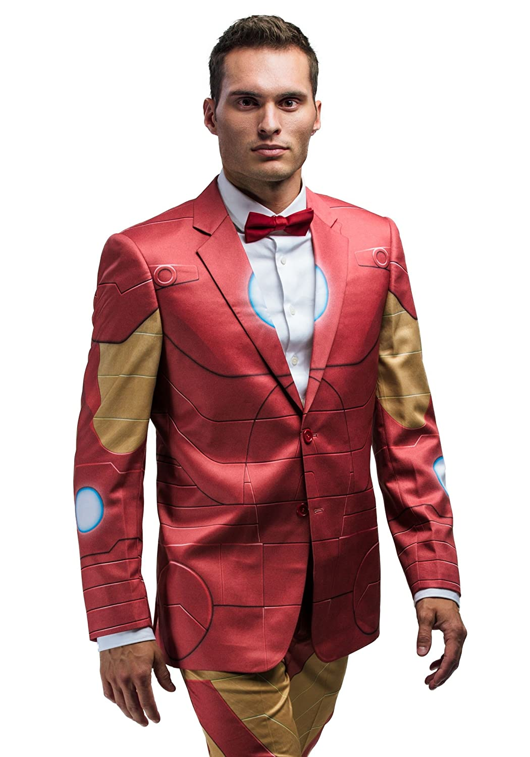 FunComInc Marvel Iron Man Slim Fit Adult Suit Jacket Outer Armor Print