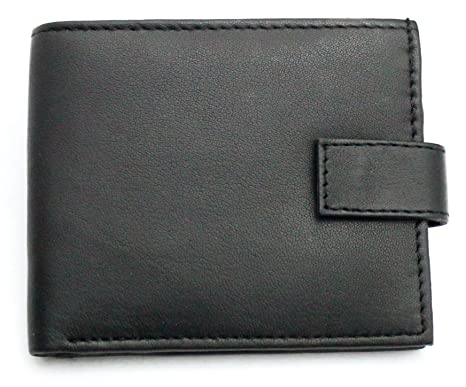 056339c9b33d9 RAS WALLETS New Men s RFID Blocking Soft Real Leather Bi-fold Wallet with  Credit Card Pockets   A Zipped Coins Purse - 421 Black  Amazon.co.uk   Luggage