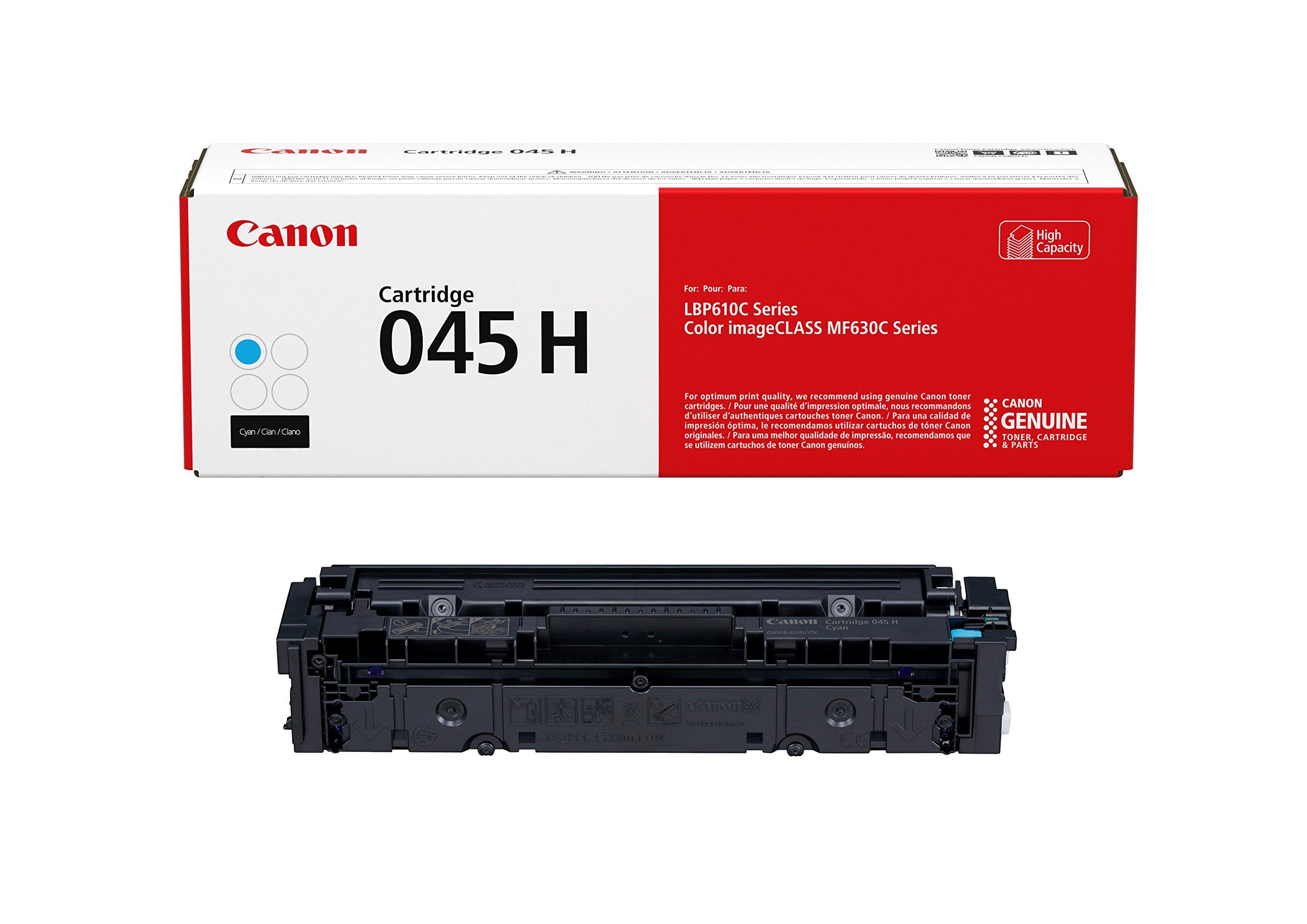 Canon Lasers Cartridge 045 Cyan, High Capacity Canon Original 045 Toner Cartridge - High Yield Cyan