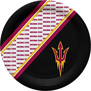 Duck House NCAA Arizona State Sun Devils Disposable Paper Plates