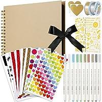 MojiDecor Álbum de Fotos para álbum de Recortes, 80 páginas, DIY Papel para Manualidades, 29 x 21.5 cm, para Libro de…