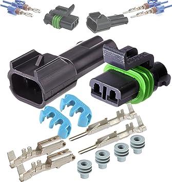 [QNCB_7524]  Amazon.com: Delphi Metri-Pack 280 Series 2-Way Connector w/12-14 AWG Sealed  Waterproof Set: Automotive | Delphi 6 Way Wiring Harness Connectors |  | Amazon.com
