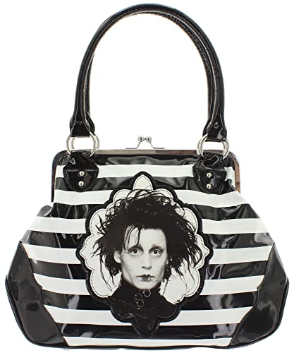 b16b31cd83 Edward Scissorhands Women s Top-Handle Bag Black Black  Amazon.co.uk ...