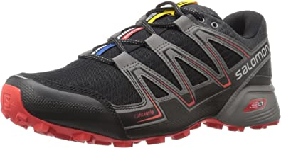 Salomon Speedcross Vario, Zapatillas de Trail Running para Hombre, Negro (Black/Magnet/Fiery Red), 46 EU: Amazon.es: Zapatos y complementos