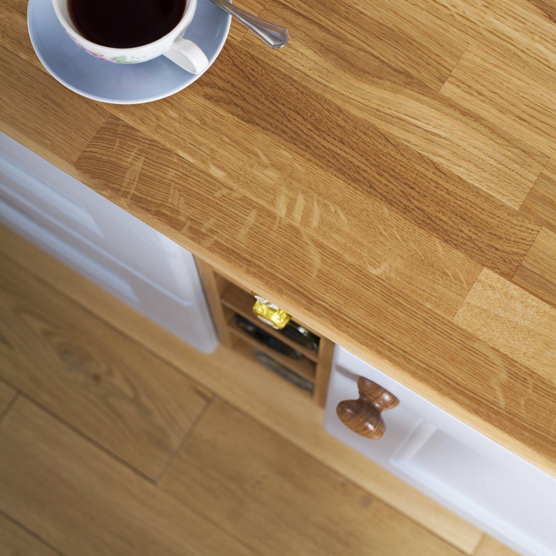 Komplett Neu Eiche massiv Holz Block Arbeitsplatten 4000 mm x 720 mm x 40 mm  XS41