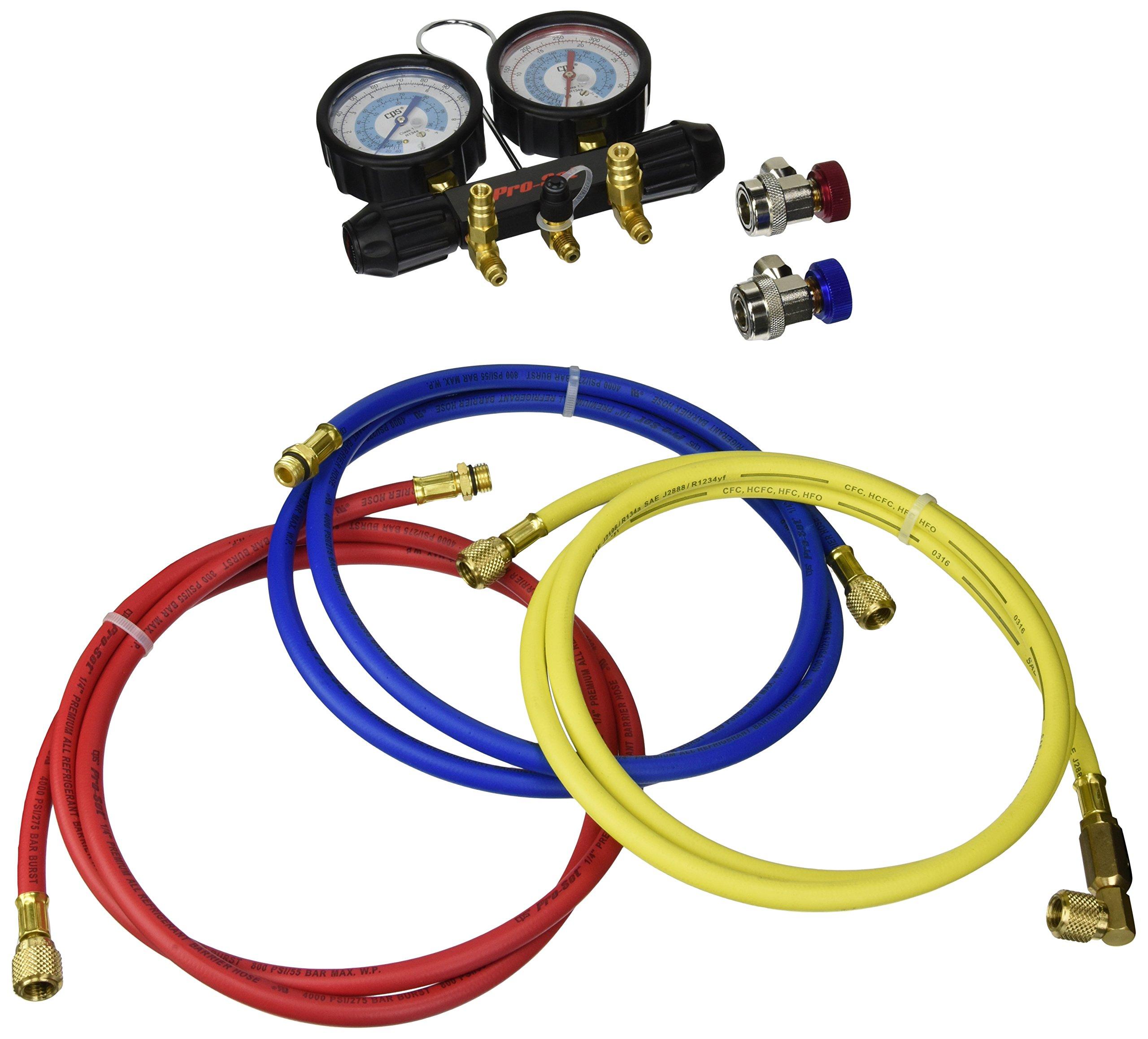 CPS Products MT7I7A6Q A/C Manifold Gauge Set