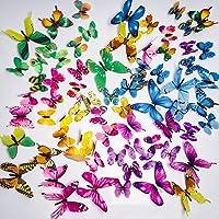 PGFUN Mariposa luminosa 72pcs Colorido Pegatina de pared
