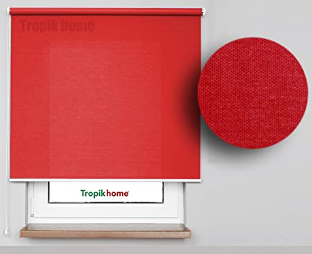 Red Window Roller Blind, 16 Width Sizes, 45cm Wide By 175cm Long (17.7u0026quot