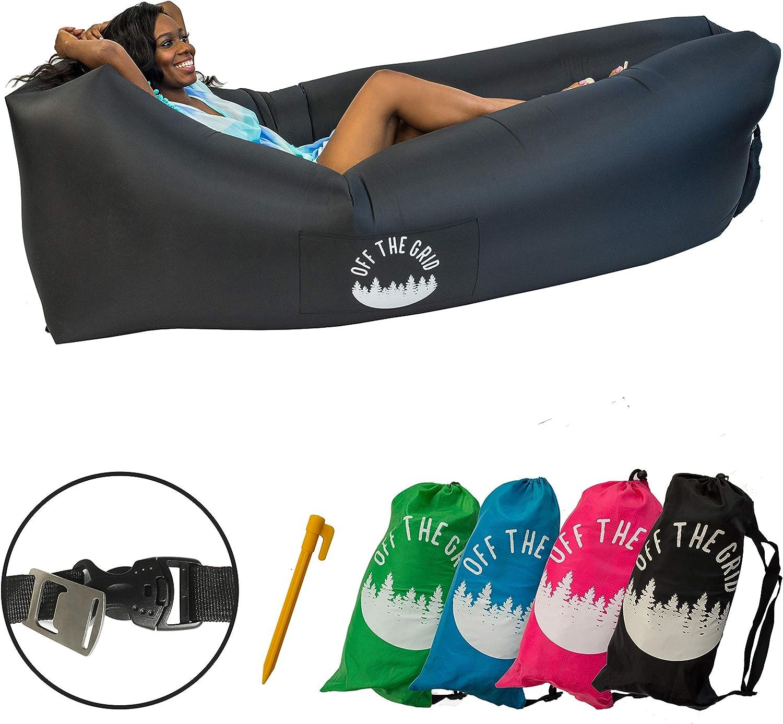 Amazon.com: Off the Grid Tumbona inflable – Sofá de aire ...