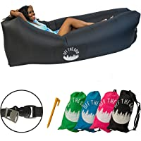 Off the Grid Inflatable Lounger - Air Sofa Wind Chair Hammock - Floating/Portable Bed for Beach, Pool, Camping, Outdoors Lazy Bag Cloud Couch