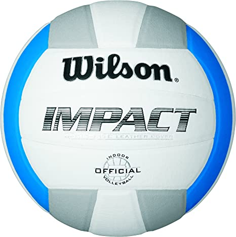 Wilson Impact Pelota, Blanco/Azul/Gris, Talla Única: Amazon.es ...