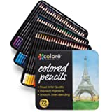 Colore Colored Pencils - 72 Premium Pre-Sharpened Color Pencil Set For Drawing Coloring Pages - Great Art School Supplies For Kids & Adults Coloring Books - 72 Colors