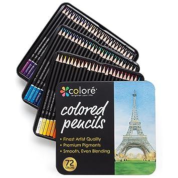 Amazon.com : Colore Colored Pencils - 72 Premium Pre-Sharpened ...