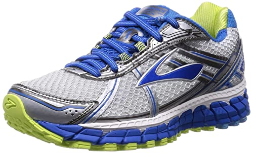 Brooks Women's Adrenaline GTS 15, White/DazzlingBlue/SharpGreen, 5 B(M