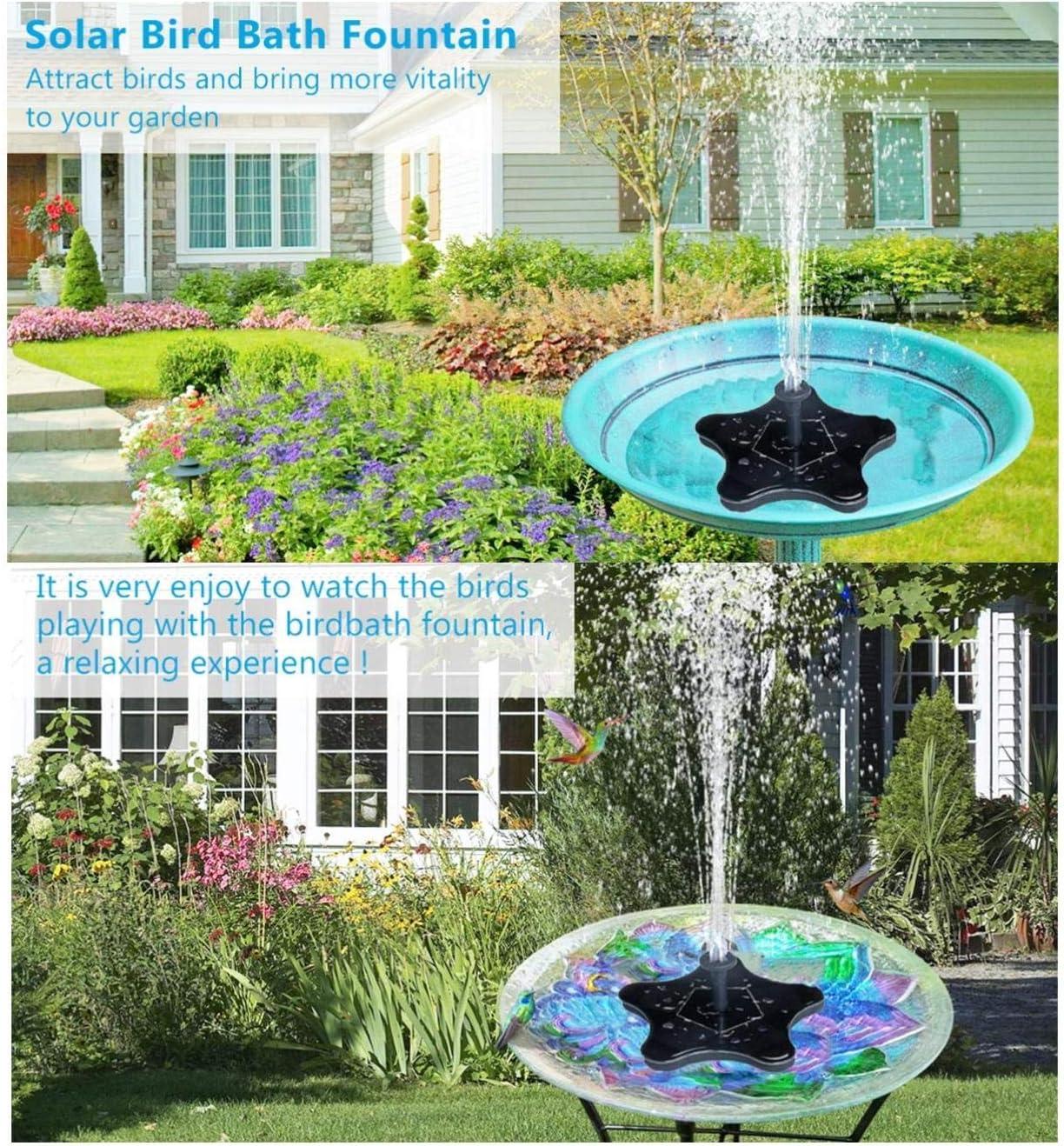 aquarium Cabilock Bain doiseau /à /énergie solaire avec panneau de d/érive pour aquarium bassin fontaine