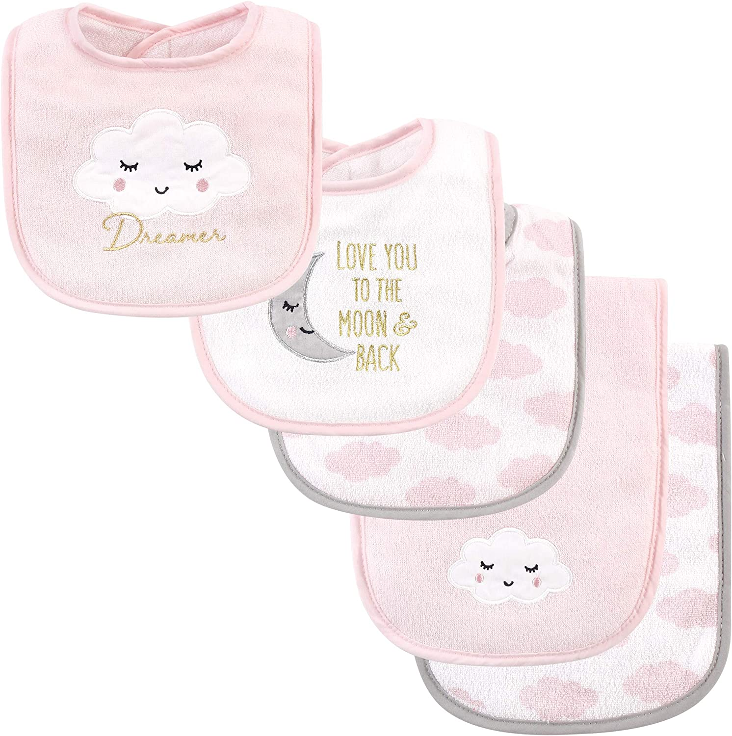 Hudson Baby Unisex Baby Cotton Terry Bib and Burp Cloth Set, Dreamer, One Size: Baby