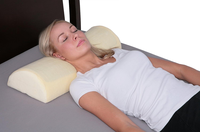 Man Shaped Pillow Amazoncom Gel Half Moon Half Cylinder Memory Foam Pillow Home