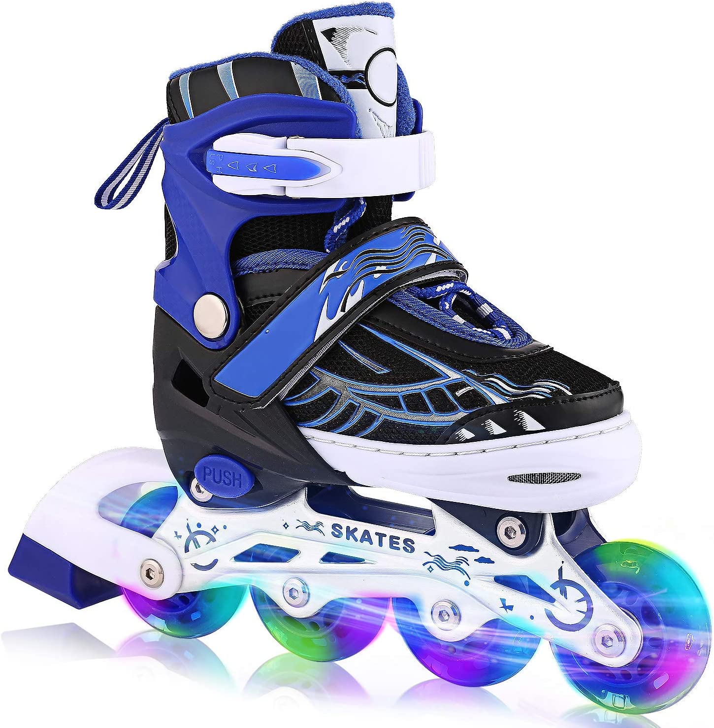 OUTCAMER Inline Skates with Light Up Wheels Adjustable Roller Skates / UK