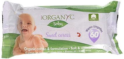 Organ(y) c Sweet Caress - Toallitas para bebé de algodón orgánico