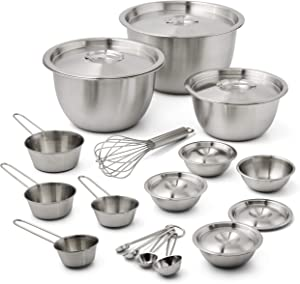Better Homes & Gardens Stainless Steel Mixing Set, 23 Pieces
