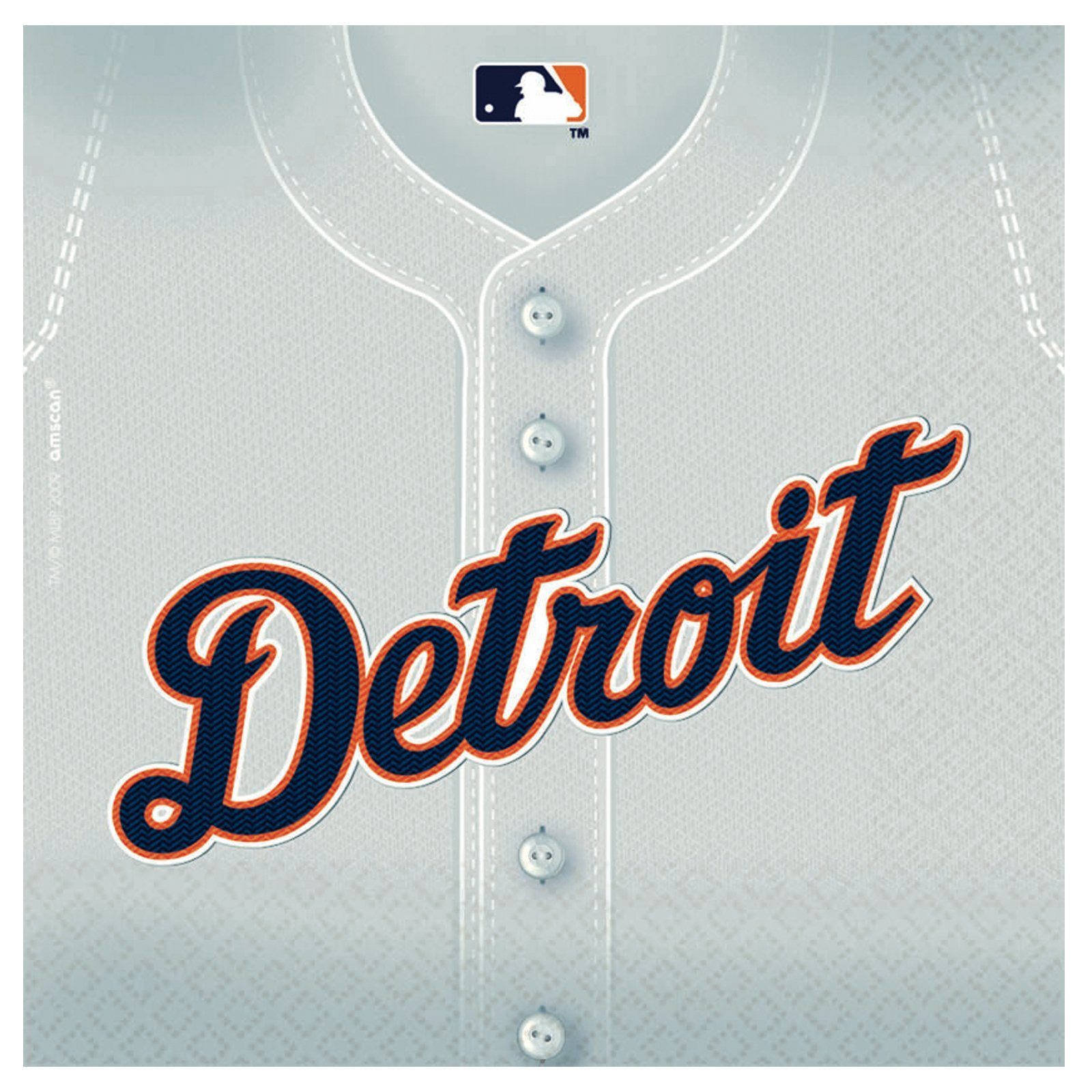 Detriot Tigers Baseball - Beverage Napkins Party Accessory