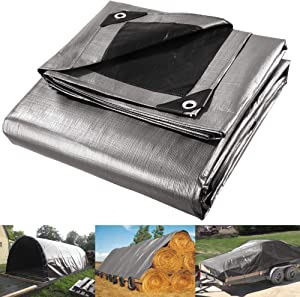 Yescom 12x20 Ft 10 Mil Poly Tarp Protective Cover Tarpaulin Heavy Duty UV Resistant