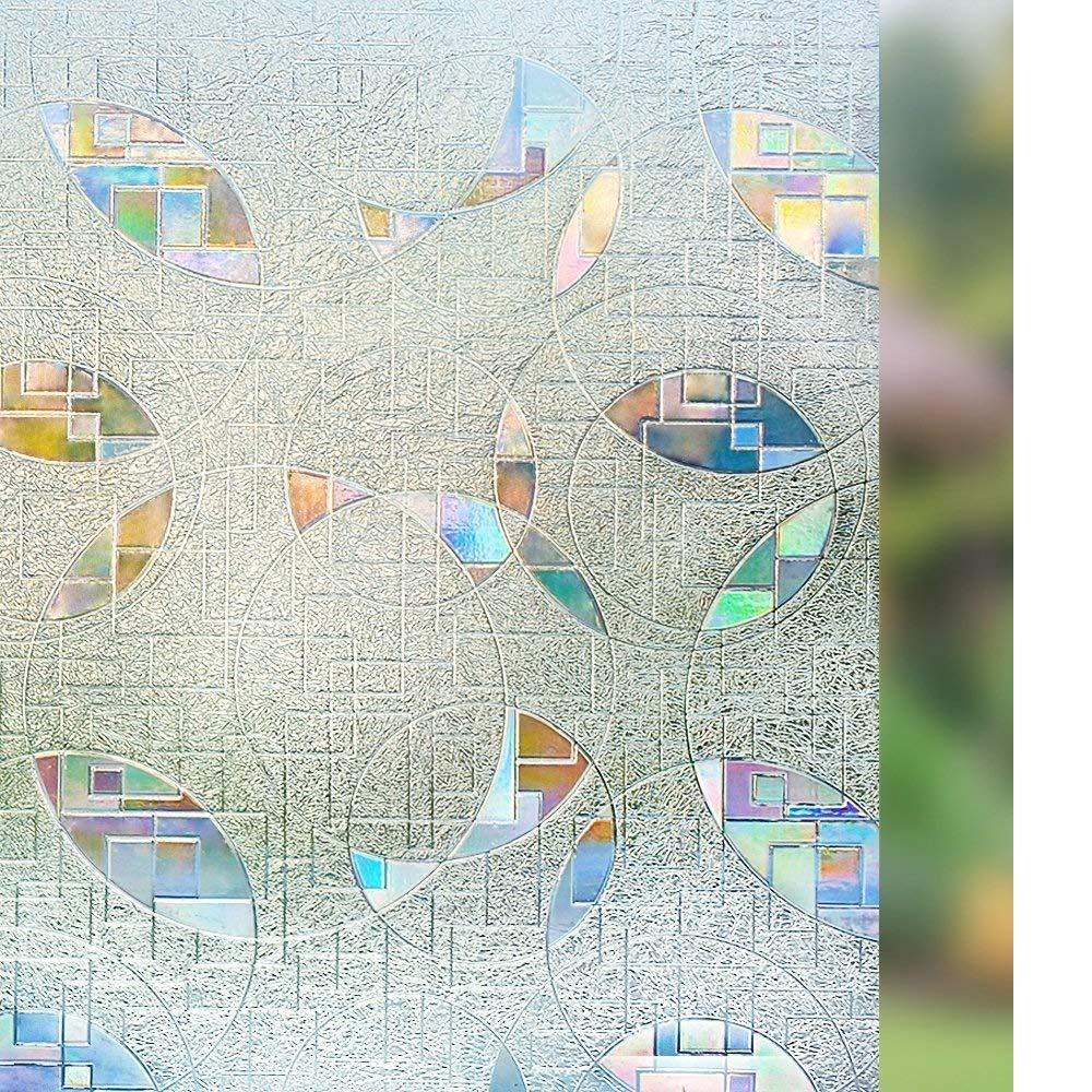 Rabbitgoo 3D Window Film Privacy Static Cling Vinyl Window Film No-Glue Window Tint Film Anti UV Window Cling Glass Film 35.4 x 78.7 inches by Rabbitgoo