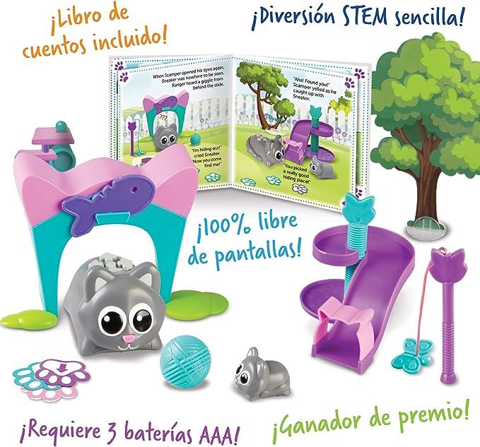 Learning Resources Coding Critters Scamper & Sneaker, ganador del premio Toy of the Year Award, escuela en casa, juguete interactivo de codificación STEM, juguete de codificación temprana para niños, juego de 22 piezas, edades 4+: ... - Amazon.com