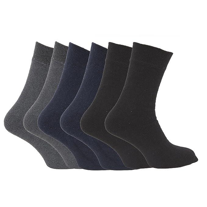 Calcetines termicos super gordos 1.9 Tog para hombre/caballero - Pack de 6 pares de calcetines: Amazon.es: Ropa y accesorios