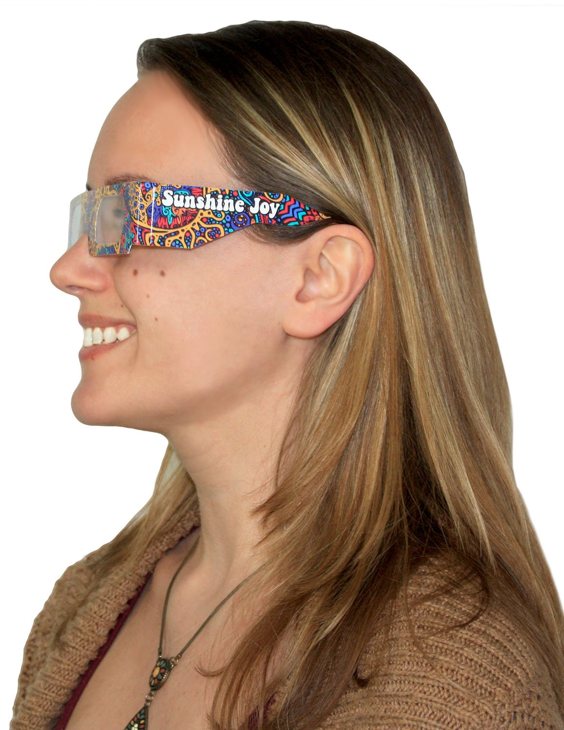 Card Stock Sunshine Joy 3D Glasses Amazing 3-D Effects on all 3-D Reactive Images For Indoor Use Only 5 PACK