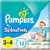 Pampers Splashers Swimming Pants, Size 3-4, 6-12 kg, Carry Pack, 12 Count