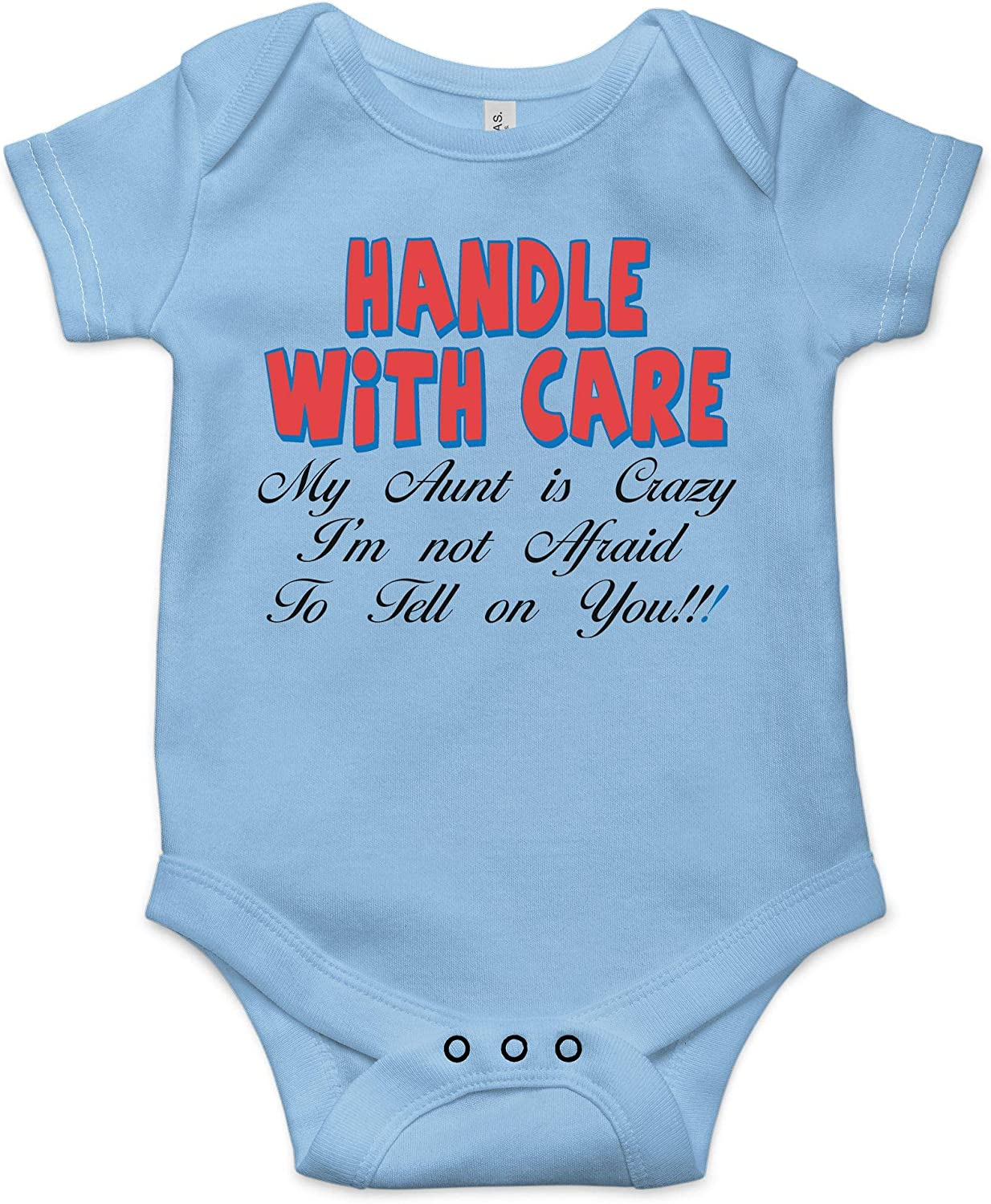 TripleBDesigns Handle with Care Best Shower Gift Funny Onesie Message Cute  Infant Baby Bodysuit